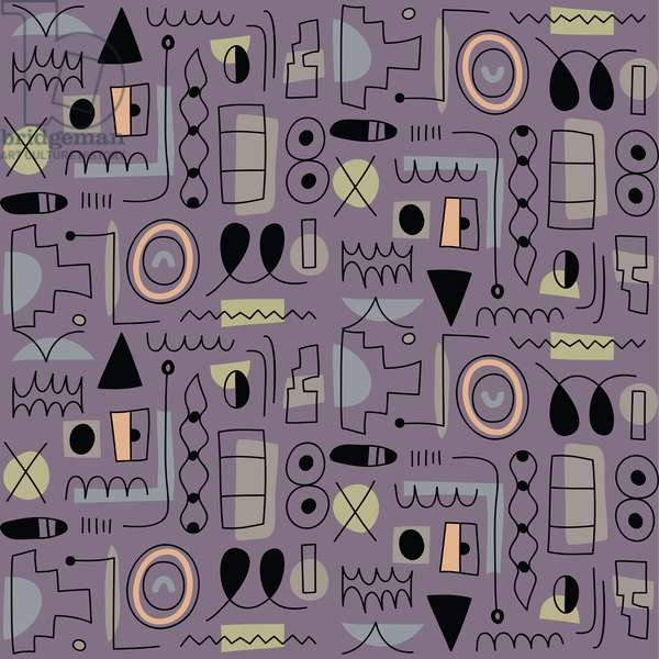 Seamless pattern, 2018, vector graphic