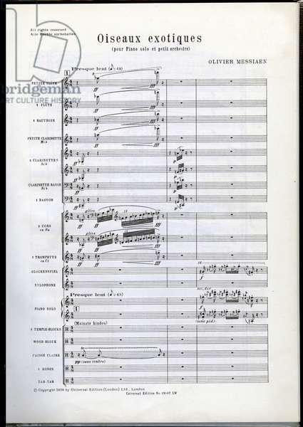 Olivier Messiaen's Oiseaux exotiques