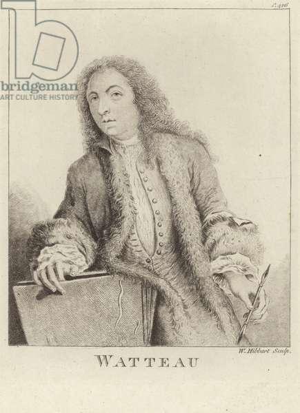 Jean Antoine Watteau, French painter (engraving)