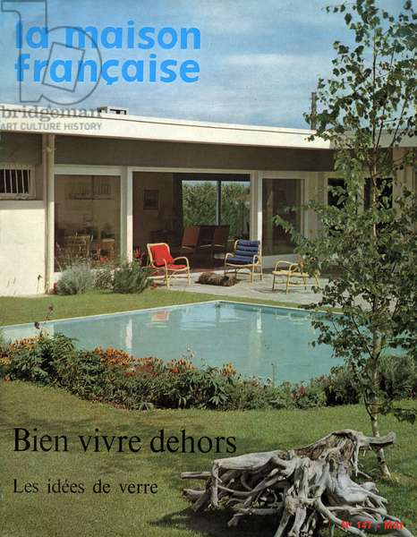 Villa annees 60, Villa in the 60's, 1961 (photo)
