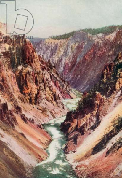 The Yellowstone River (colour litho)