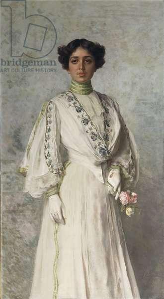 Portrait of Giulia Tricca by Federico Andreotti