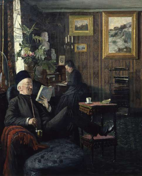 Living Room, 1887 (oil on canvas)