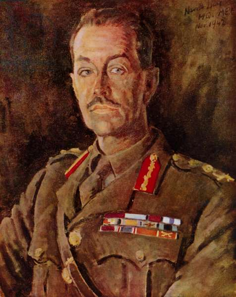 Sir Harold Alexander, 1st Viscount Alexander of Tunis, British general of the Second World War, 1942 (colour litho)