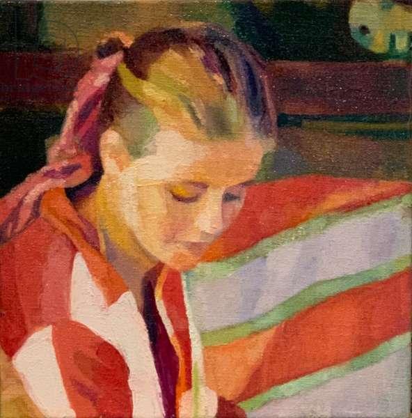 Memory of solitude, 2021, (oil on canvas board)