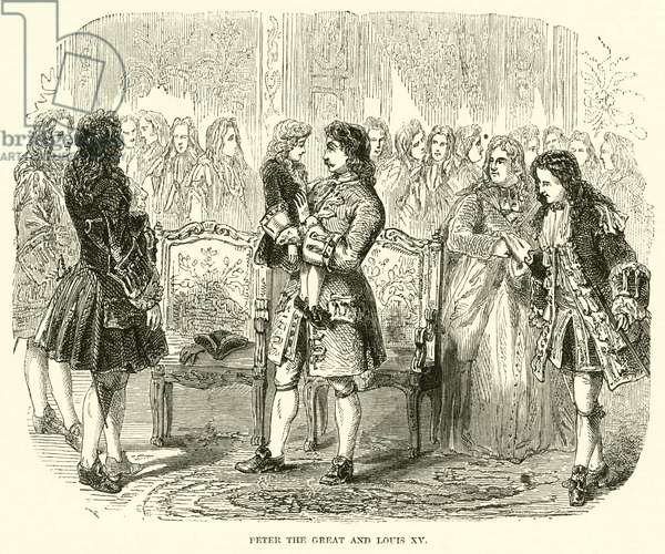 Peter the Great and Louis XV (engraving)