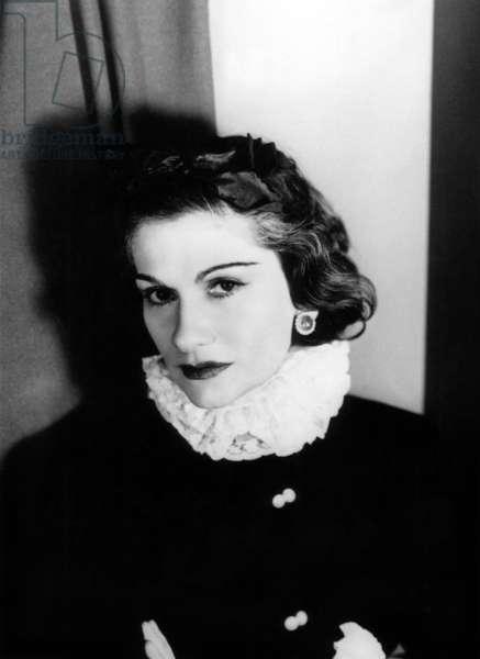 Gabrielle 'Coco' Chanel, French fashion designer, 1935 (b/w photo)