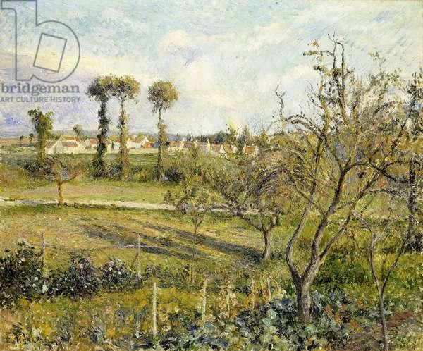 Sunset at Valhermeil, near Pontoise; Soleil Couchant au Valhermeil, pres Pontoise, 1880 (oil on canvas)