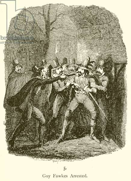 Guy Fawkes arrested (engraving)