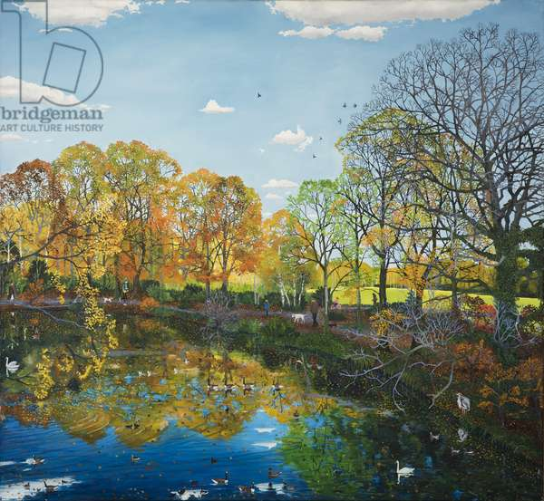 Autumn Reflections, 2012, (oil on canvas)
