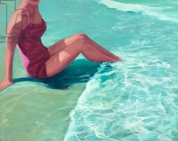 Seafoam, 2016, (oil on canvas);