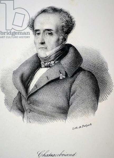 Francois Rene, vicomte de Chateaubriand, 1840 (litho)