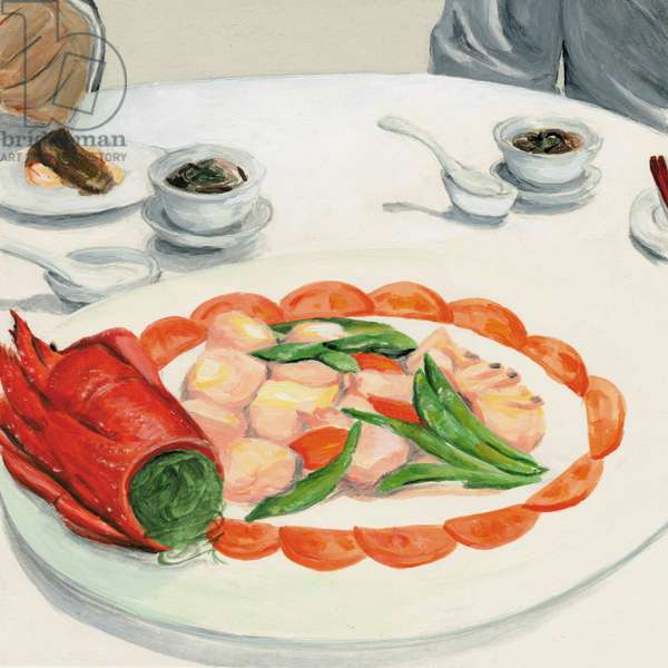 Chinese dishes, 2013, (Acrylic paint on paper)
