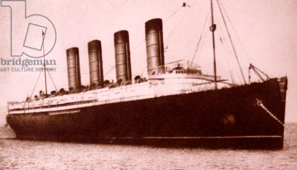 The RMS Titanic on her maiden voyage.