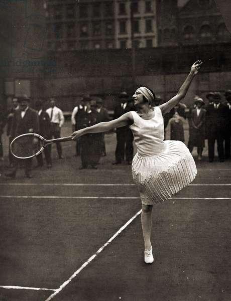 Suzanne Lenglen, New York, 1926 (Sepia Photo)