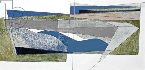 Cliff Boundary 2 Diptych, 2007 (acrylic on hardboard)