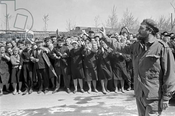 Fidel Castro Visits Uralmash Factory In Sverdlovsk