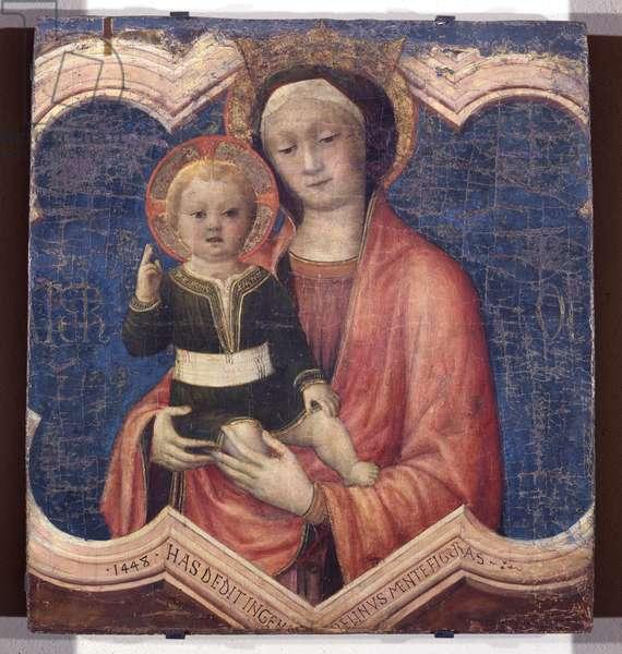 Madonna and Child, 1448 (tempera on board)