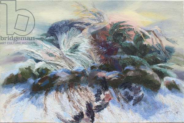 Birds in a Landscape, 1995 (oil on canvas)
