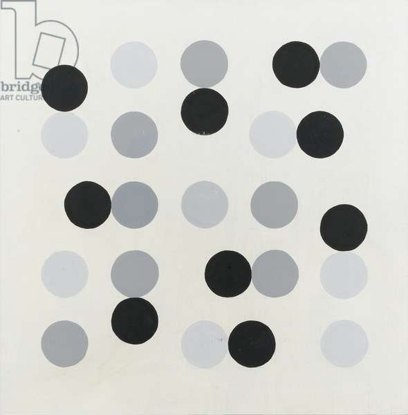 System with Circles no. 1, c.1985 (alkyd on board)