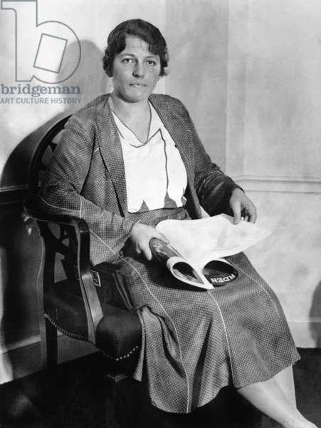 Pearl S. Buck, 1932 (b/w photo)