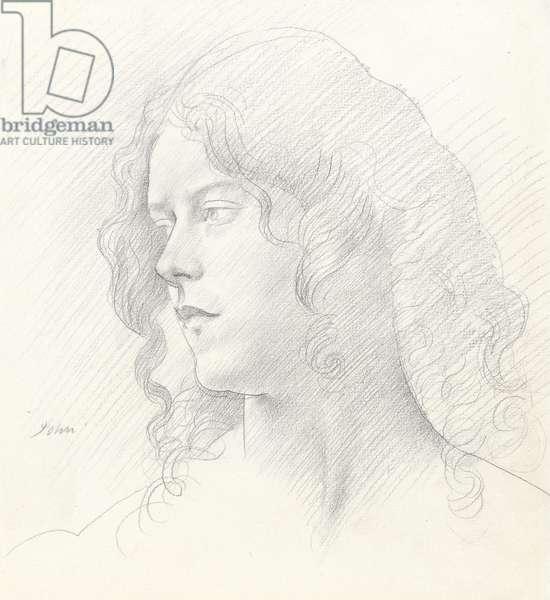 Portrait of Mrs Derwent Lees, 1910 (graphite on paper)