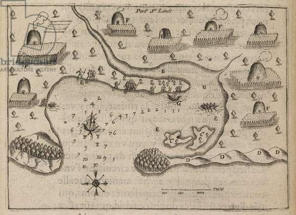 Port of St. Louis, 'Les Voyages du Sieur de Champlain...' by Samuel de Champlain, 1613 (print)