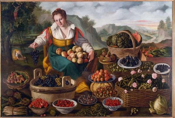 Fruit seller, 1578-81 (oil on canvas)