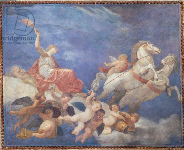 Aurora Carried by the Chariot of Sun, (detached fresco transferred to canvas)