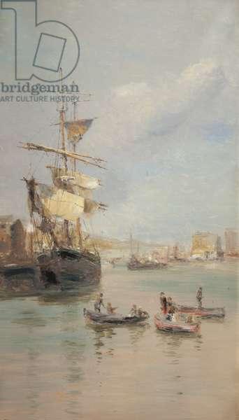 Douglas harbour, 1892 (oil on canvas)