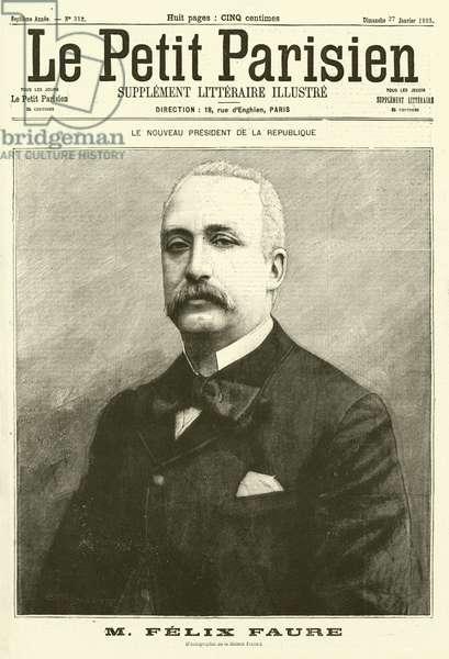 Felix Faure, new President of France (engraving)