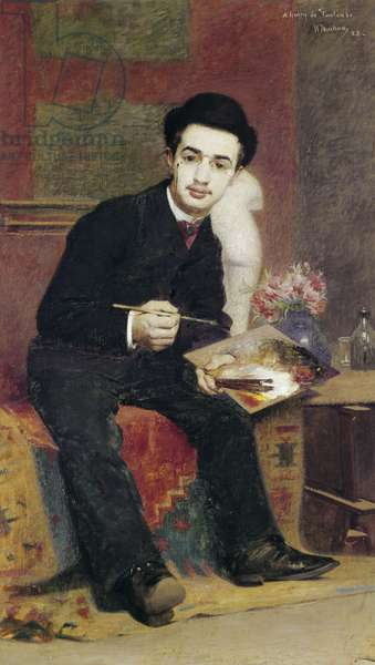 Portrait of Henri de Toulouse-Lautrec, 1883 (oil on canvas)