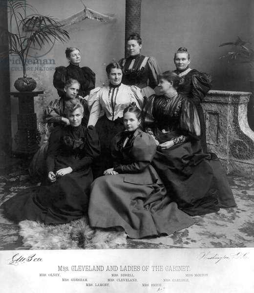 Mrs. Cleveland and Ladies of the Cabinet, Washington DC, USA, 1894 (b/w photo)