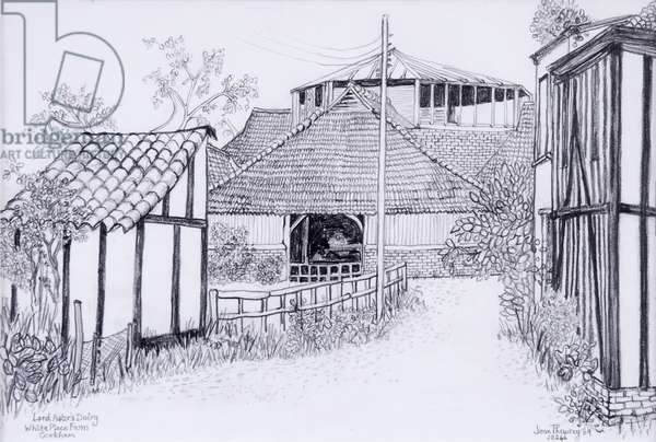 Lord Astor's Dairy, White Place Farm, Cookham 2012, pencil