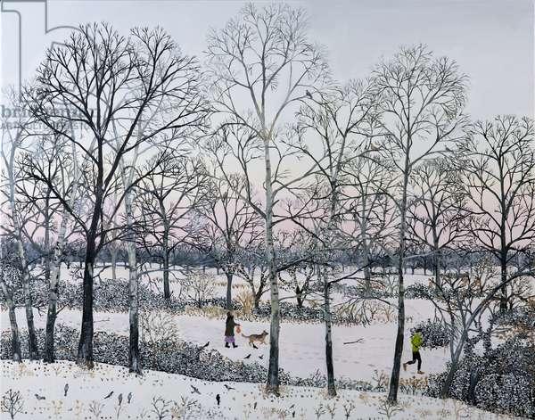 Walking in woods II, 2019, (oil on canvas)