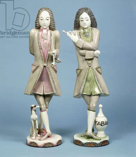 A pair of Nymphenburg porcelain figures (porcelain)