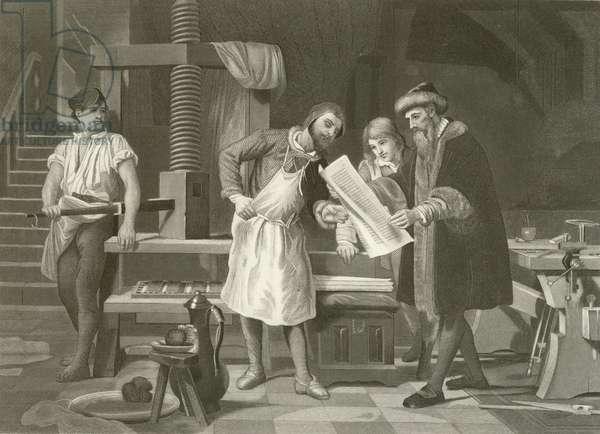 Gutenberg 1400-1468 (engraving)