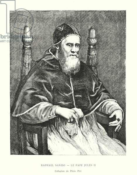 Raphael Sanzio, Le Pape Jules II, Collection du Palais Pitti (engraving)