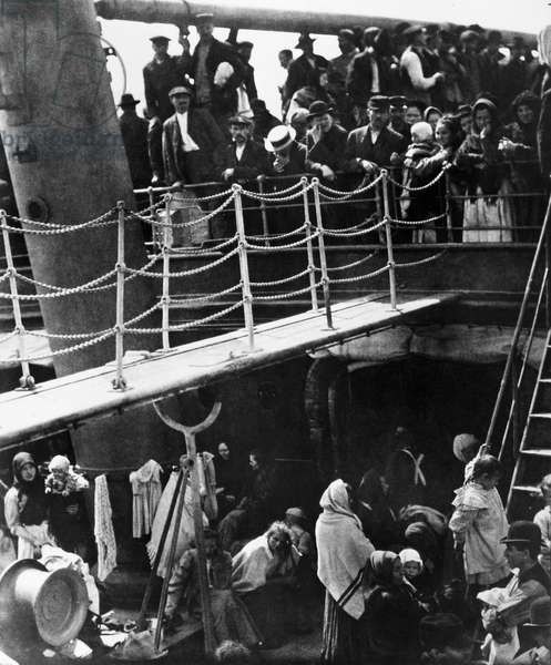 THE STEERAGE, 1907 Low class passengers boarding a ship bound for Europe from New York City. Photograph by Alfred Stieglitz, 1907.
