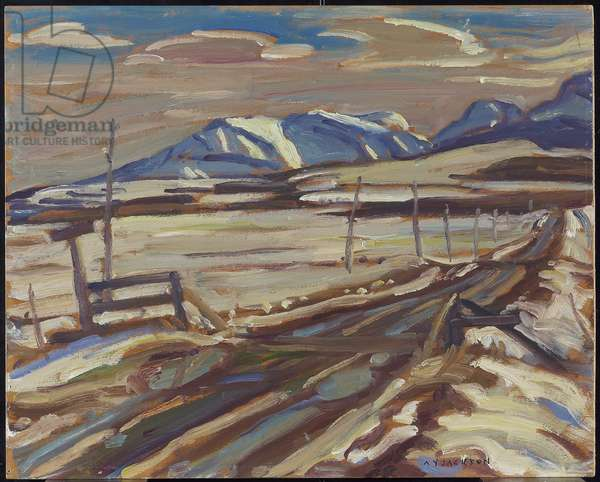 Country Road, Alberta, c.1954 (oil on panel)