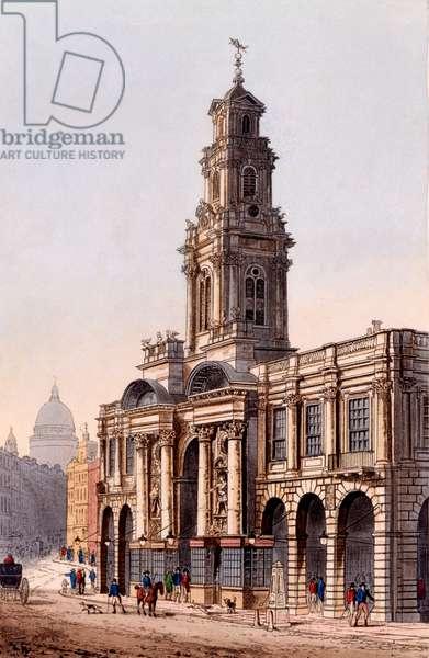 The Royal Exchange, 1816 (colour aquatint)