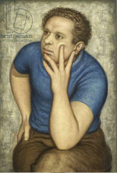Portrait of Dylan Thomas, 1953 (oil on canvas)