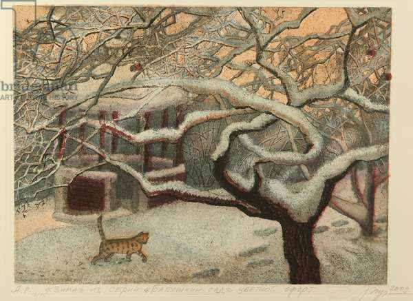 Winter, 2009 (colour etching on paper)