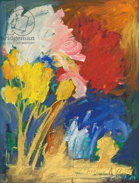 Blumenrausch, 2001 (oil on canvas)