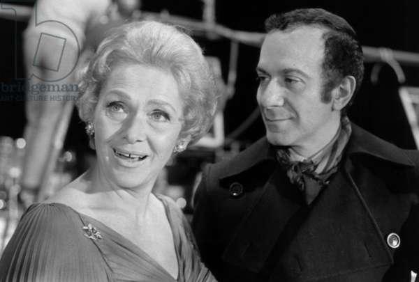 Elisabeth Schwarzkopf and Roland Petit at the Casino de Paris, 1970 (b/w photo)