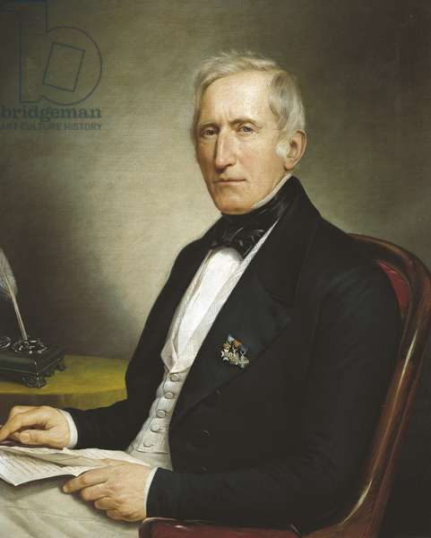 Count Luigi Porro Lambertenghi, by Andrea Appiani Younger (1817-1865), oil on canvas, 60x75 cm