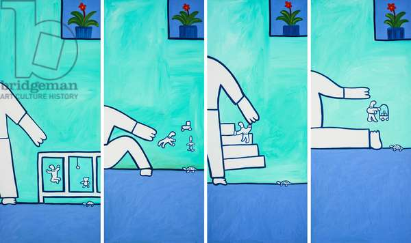 Four moments in one morning,2001,(oil on linen)