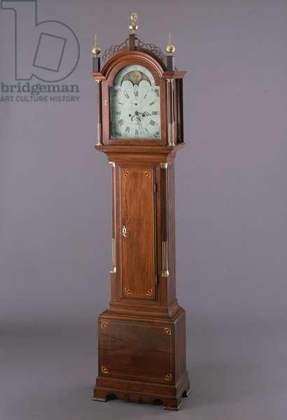Tall Clock, c.1800 (mahogany, white pine, brass & glass)