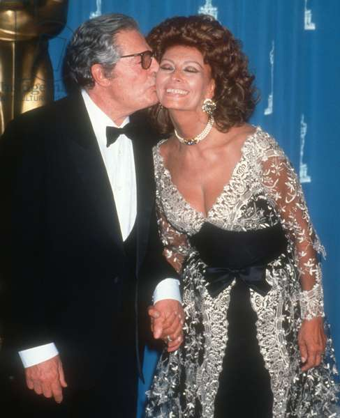 Marcello Mastroianni, Sophia Loren, 1993 (photo)