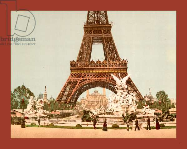 Eiffel Tower and Fountain, Exposition Universal, 1900, Paris, France, Between Ca. 1890 and Ca. 1900